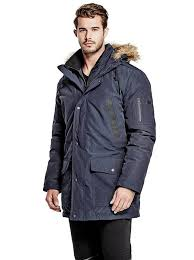 geoffrey hooded puffer coat guess uk guess clothing marciano by guess