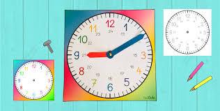 Uhr vorlage zum ausdrucken und selber basteln. Lernuhr Bastelvorlage Frau Locke
