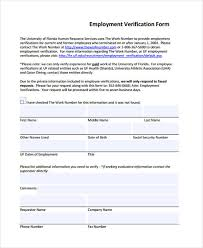 Verification Of Employment Form Classy Job Reference Verification Form