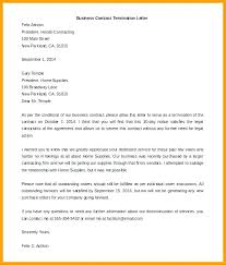 Notice Of Termination Contract For Sale Land Business Service Letter