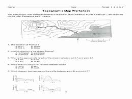 Topographic Map Reading Worksheet Answers Awesome Mapping Earth S ...