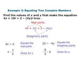solve for x example 3 equating two complex numbers