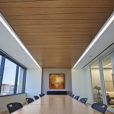 wood ceiling lighting. WOODWORKS Linear Veneered Panels (Room Scene) Wood Ceiling Lighting