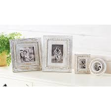 white washed beaded small frames