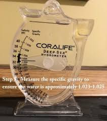 instant ocean hydrometer. how to make saltwater step 5 instant ocean hydrometer