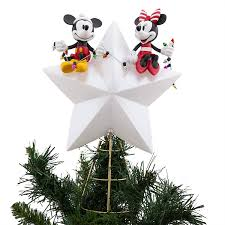 Celestial Lights Christmas Tree Topper Disney Mickey And Minnie Mouse Light Up Holiday Tree Topper