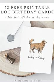 22 Free Printable Dog Birthday Cards Free Valentine Cards