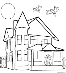 House Coloring Pictures Printable Haunted House Coloring S For Loud