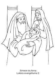 Small Picture Simeon en Anna Kerst kleurplaten voor kleuters Nativiy