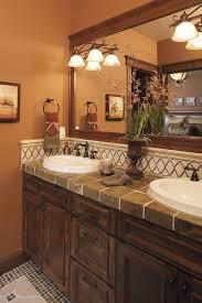 tile bathroom countertop ideas. Bathroom. Excellent Combination Of Dark Cabinets And Tile Countertop. Bathroom Countertop Ideas O