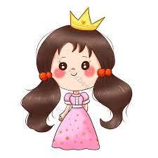 Phim hoạt hình thiếu nhi phiên bản Q buộc tóc đuôi ngựa đôi công chúa nhỏ  đội vương miện miễn phí | Công cụ đồ họa PSD Tải xuống miễn phí - Pikbest