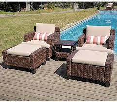 wicker lounge chair patio furniture sets