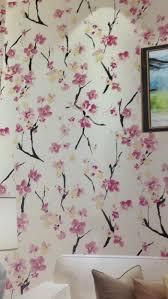 Wallpaper Dinding Motif Bunga Sakura Elegant Bunga Sakura