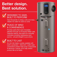 rheem 50 gallon hybrid water heater. rheem performance platinum 50 gal. 10-year hybrid high efficiency electric tank water heater gallon e