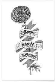 Get Well Soon Poster Get Well Soon Hand Lettering Poster Juniqe