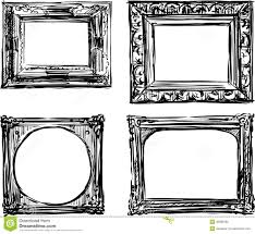 black antique picture frames. Vintage Frames Stock Vector Black Antique Picture O