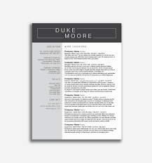 Modern Word Resume Templates Elegant Modern Resume Template Free New