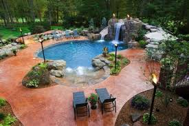 backyard pool designs landscaping pools. Design View In Gallery With A Freeform Pool Backyard Designs Landscaping Pools I