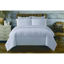 cottage classics chambray cotton white twin xl comforter set