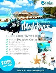 Free Travel Flyer Templates Brochure Template Tourist Leaflet Sample