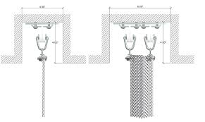ceiling shower curtain track system
