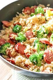 smoked sausage rice one skillet recipe