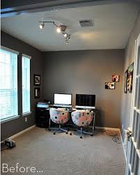 home office makeover. Wonderful Office A Soft And Serene Office Makeover For Home Makeover