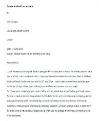 Formal Excuse Letter Format Example Of Student For College Being