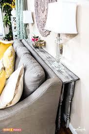 diy couch table diy sofa arm table plans