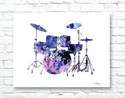 wall arts drum set wall art drums print abstract watercolor painting music decor metal  on metal drum set wall art with wood eagle wall art tag eagle wall art
