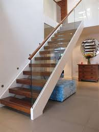 open tread stairs.  Stairs Handrails For Stairs Staircase Contemporary With Wall Art To Open Tread