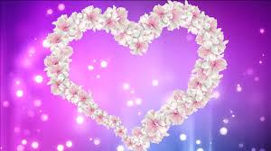 Amazing Heart Of Animated White Flowers