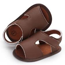 2018 summer shoes baby boys soft leather sandals kid boys solid prewalker soft sole pu leather high quality shoes for boys kids shoes
