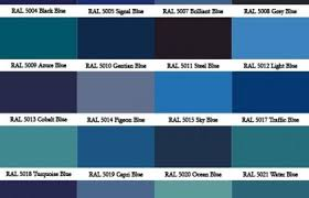 Ral Blue Color Chart Ral Colour Chart Warwick Glass National Paint Ral Color