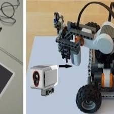 robot arrangement a black and white paper sheet presenting a a sample robot arrangement b standard lego mindstorms kit the objective is