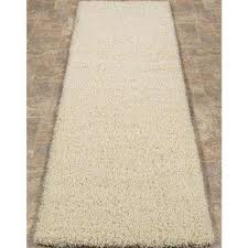 cozy collection cream 2 ft x 5 ft runner rug
