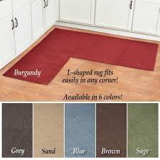 com l shaped berber corner skid resistant floor hallway kitchen runner rug sage kitchen dining