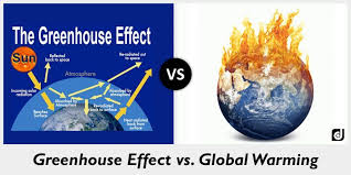 green house effect difference between greenhouse effect and global warming