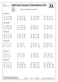 solving linear equations worksheets pdf equation math andbra maths solving andbra full size