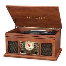 Victrola VTA-250B <b>4-in-1 Nostalgic</b> Bluetooth Record Player with 3 ...