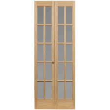 awc 627 traditional divided frosted glass 24 x 80 bifold door unfinished com