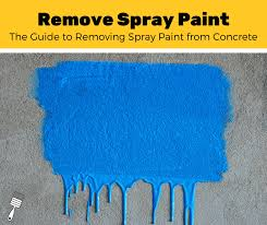 get spray paint off of concrete
