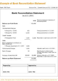 bank reconciliation form bank statement reconciliation form images
