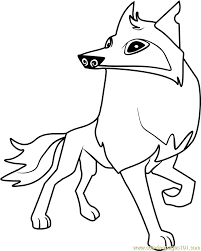 Arctic Wolf Animal Jam Coloring Page Free Animal Jam Coloring