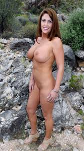 Milf outside big tits