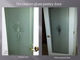 decorative glass pantry door