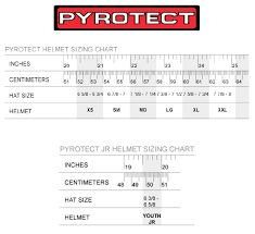 Size Chart Arai Helmets