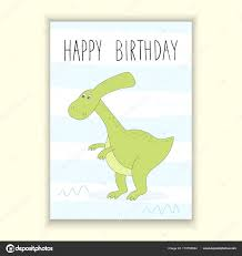 Happy Birthday Card Printable Template Printable Dinosaur Birthday Card Happy Birthday Card
