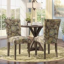 chaign fl upholstered dining chair set of 2