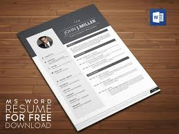 Creative Resume Templates Free Word Free Professional Cv Template Word Download